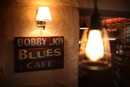 Moody Blues poster in a coffee House Editorial