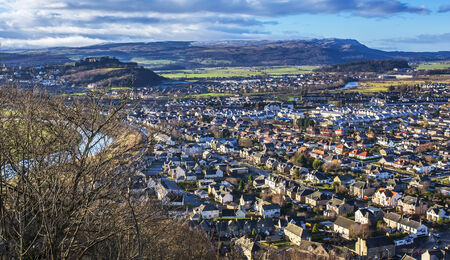 wallace: Shot of Stirling from the Wallace Monument Stock Photo