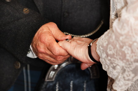 getting married: Older Couple getting married Stock Photo