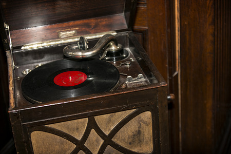 gramaphone: A shot of an old vintage Gramaphone