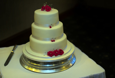 tier: A shot of a three tier wedding cake Stock Photo