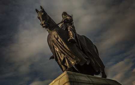 robert bruce: King Robert the Bruce on Horseback