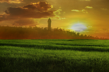 wallace: The Wallace monument at Sunset