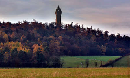 craig: An evening shot of The Wallace Monument Stock Photo