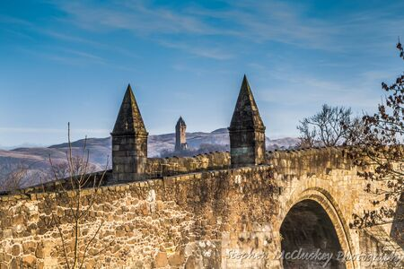 wallace: Stirling Bridge Stock Photo