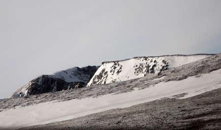 cliff face: Snow coverd cliff face