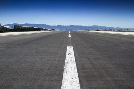 Shot of an empty runway Stock Photo