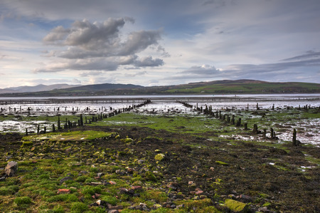 river bank: A shot of a river bank in Largs, Stock Photo