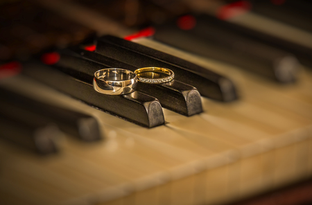 Rings on piano photo