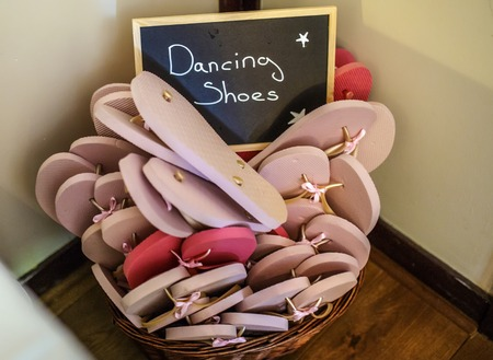 tap dance: A shot of a bucket of dancing Shoes Stock Photo
