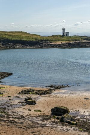 fife: Shot of Elie Lighthouse in Fife Scotland