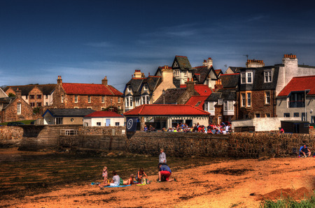 fife: Shot of Elie town in Fife Scotland