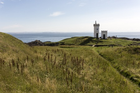 fife: Elie Lighthouse in Fife Scotland on a suny day