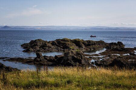 rocky coastline: Dramatic rocky coastline in Elie Scotland