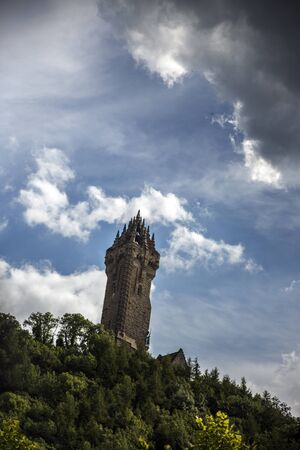 craig: Shot of the Wallace Monument in Scotland Stock Photo