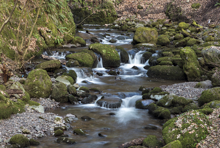 Rumbling River rocks Alva GLen Scotland