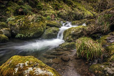 Flowing River in Alva Glen in Scotland