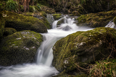 Close up of a Waterfall in Alva Glen Scotland