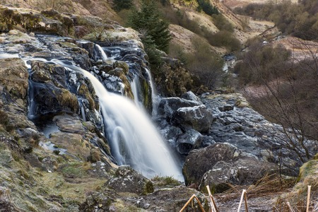 Long view of the Loup of Fintry waterfall
