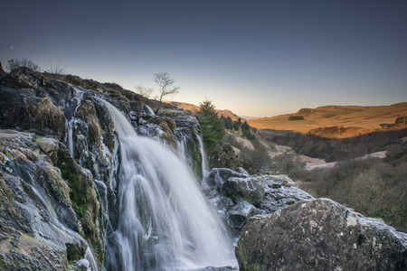 The Loup of Fintry waterfall on the River Endrick