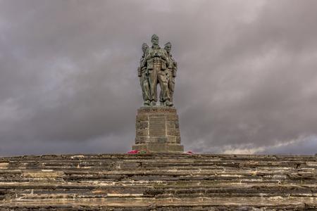 Commando Statue in the great glen Scottish Highlands