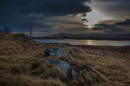 Sunrise in Scotland Stock Photo