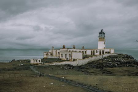 Neist Point Lighthouse In Skye Stock Photo