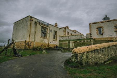 Abandoned lighthouse cabin