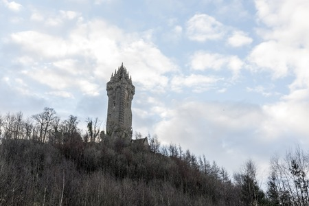 Wallace Monument in Stirling Scotland