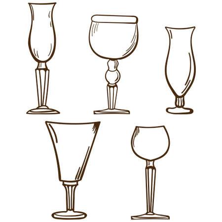 stemware: Stemware. Glass in vector