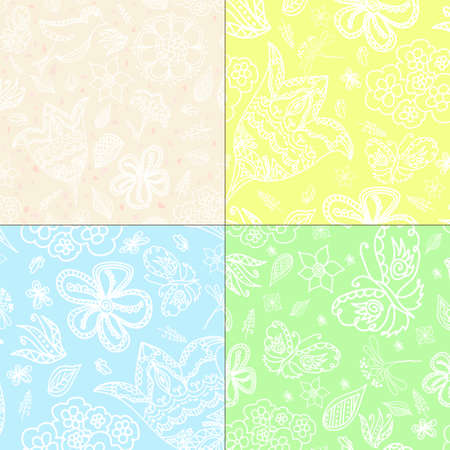 textured backgrounds: Set of four textured. Hand draw pattern backgrounds