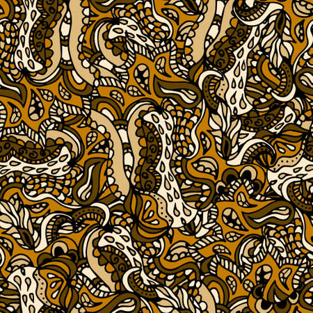 batik: Hand drawn doodle pattern in vector. Zentangle background. Seamless abstract texture. Illustration