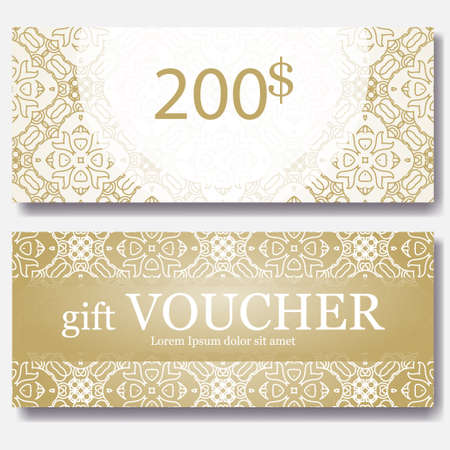 Template gift certificate for yoga studio spa center massage gift voucher template with mandala design certificate for sport center magazine or etc yelopaper Gallery