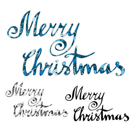marry christmas: Marry Christmas card with hand drawn lettering. Vector illustration for your design