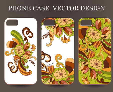 magical equipment: Phone case. Vintage vector background. Sticker background on phone
