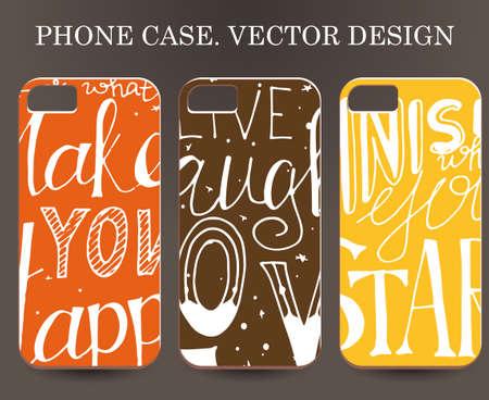 Phone case. Vintage vector background. Sticker background on phone