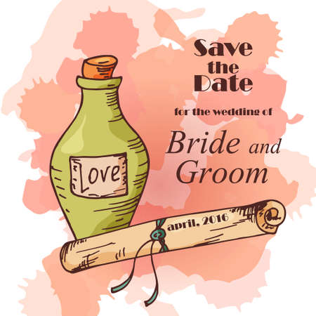 wedding reception decoration: Wedding card. Template of invitation card. Decorative greeting invitaion design