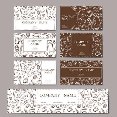 irish pub label design: Beer menu. Retro card or flyer. Restaurant theme. Vector illustr Illustration