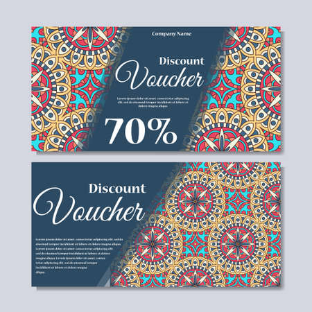 Gift voucher template with mandala design certificate for sport gift voucher template with mandala design certificate for sport or yoga center magazine or yadclub Images