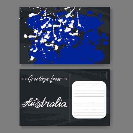 Netherlands vector set of tag templates with traditional holland postcard from sydney hand drawn lettering and sketch greetings from australia vector illestration m4hsunfo
