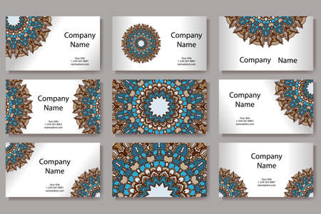 business card: Template for geometric business card.