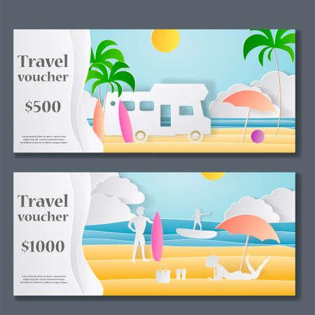 travel gift voucher template