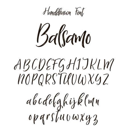 Handgezeichnete Buchstaben. Beschriftung und benutzerdefinierte Typografie für Ihre Designs. Vektortyp.