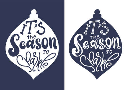 Winter holiday saying. Christmas wishes text for greeting card, poster or print. Lettering qoute with decorative design elements. Vector illustration