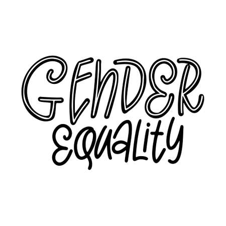 Hand drawn lettering phrase. Feminist slogan for poster or card. Woman motivation slogan. Isolated on white background. Vector illustration Standard-Bild - 138514071