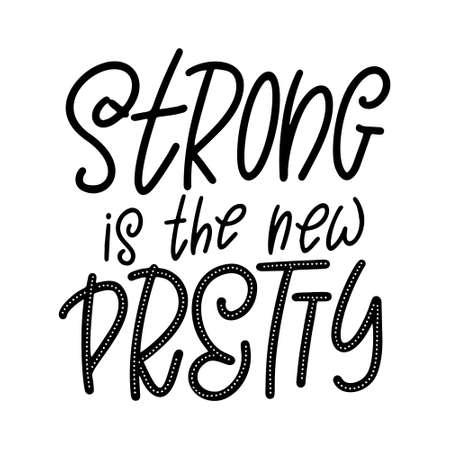Hand drawn lettering phrase. Feminist slogan for poster or card. Woman motivation slogan. Isolated on white background. Vector illustration Standard-Bild - 138516732