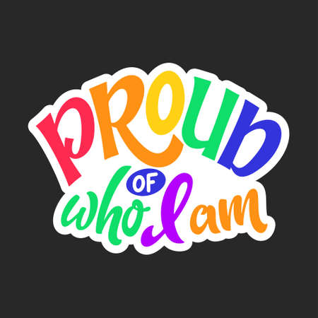 Gay lettering quote. LGBT pride slogan. Human rights and tolerance. Hand drawn poster. Vector illustration