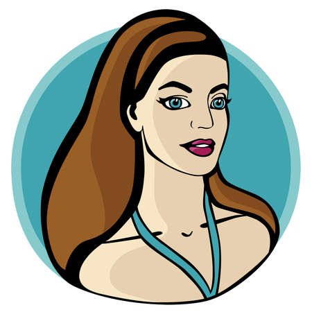 Summer Girl. Vector illustration. Vector