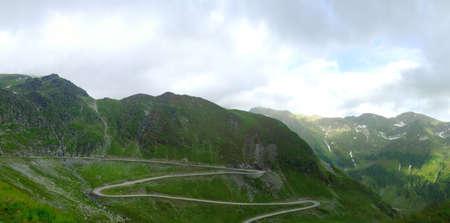 transfagarasan: Panorama view of the Transfagarasan Road in he Carpathian Mountains