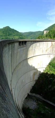 Vidraru Dam and Vidraru Lake in the Carpathian Mountains Romania photo